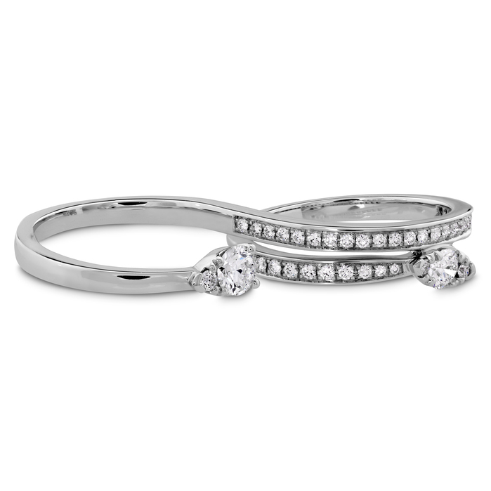 0.75 ctw. Aerial Teardrop Double Ring - Diamond Intensive in 18K White Gold