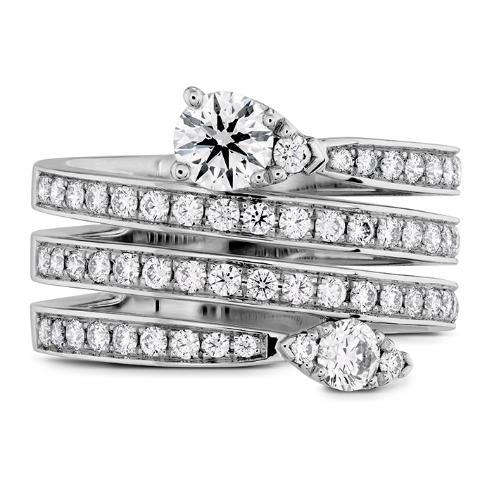 1.1 ctw. Aerial Four Row Right Hand Ring in 18K White Gold