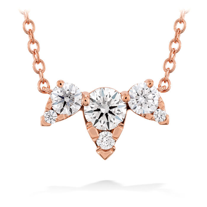 0.45 ctw. Aerial Triple Diamond Necklace in 18K White Gold