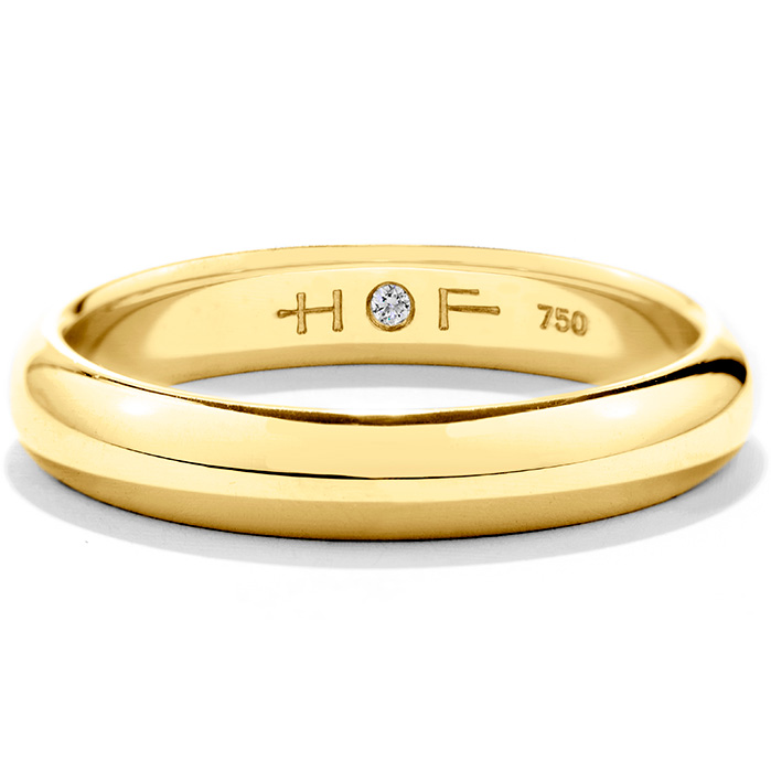 Men's Half-Round Comfort Fit Band in 18K Yellow Gold