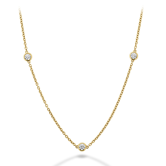 0.43 ctw. Signature Bezels By The Yard 3 Stone in 18K Yellow Gold