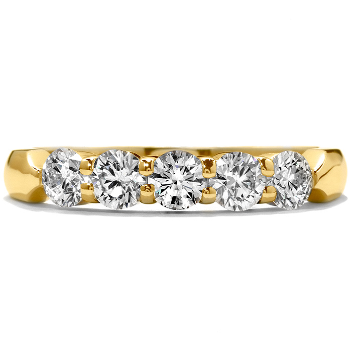 0.5 ctw. Five-Stone Wedding Band in 18K Yellow Gold