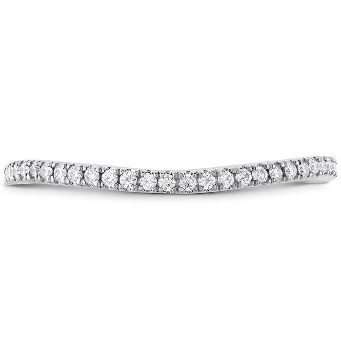 0.12 ctw. Brielle Curved Split Shank Band matches in Platinum