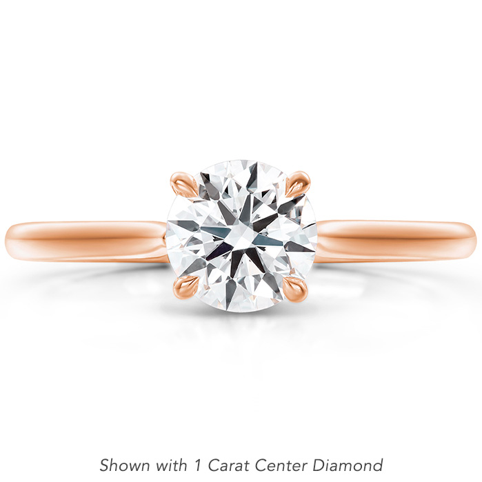 Camilla 4 Prong Engagement Ring in 18K Rose Gold