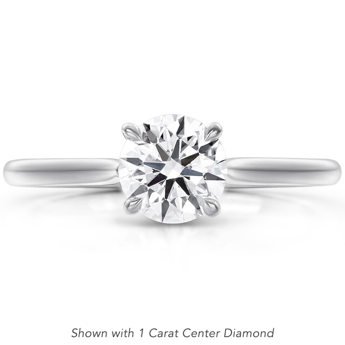 Camilla 4 Prong Engagement Ring in Platinum
