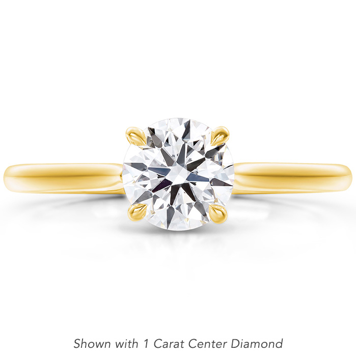 Camilla 4 Prong Engagement Ring in 18K Yellow Gold