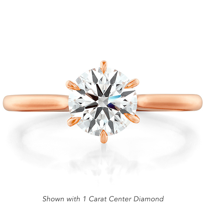 Camilla 6 Prong Engagement Ring in 18K Rose Gold