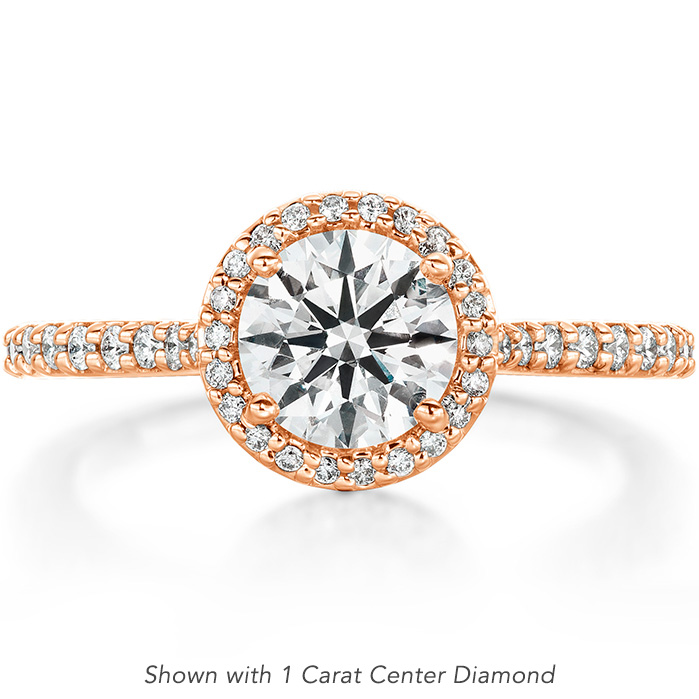 0.22 ctw. Camilla Halo Diamond Engagement Ring in 18K Rose Gold
