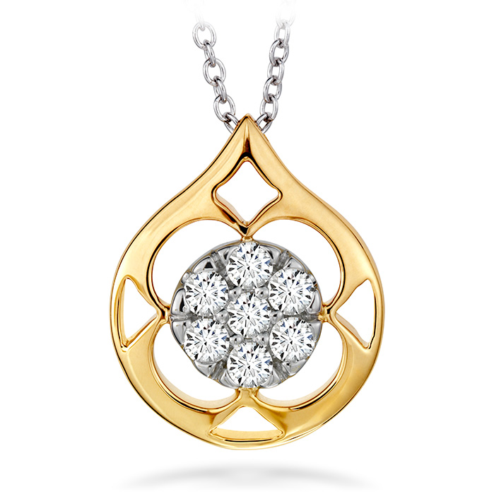 0.33 ctw. Copley Pave Pendant Necklace in 18K Yellow Gold w/Platinum