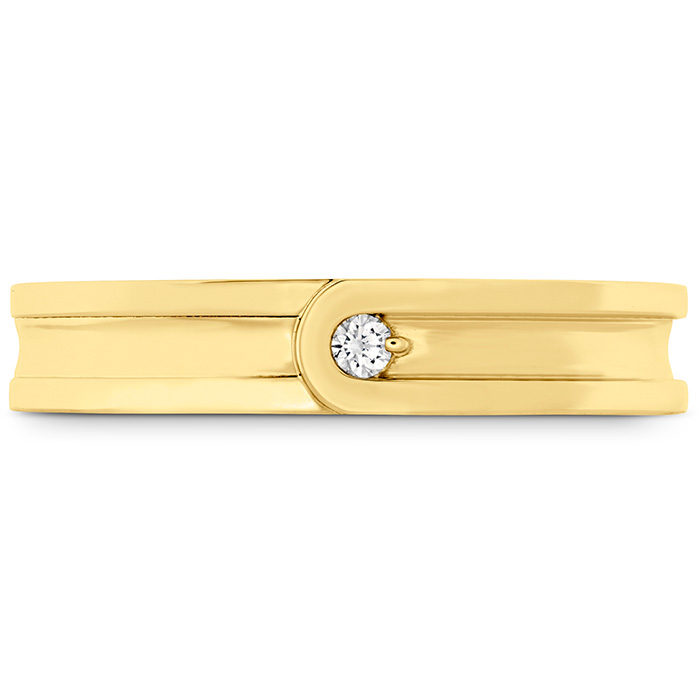 0.03 ctw. Coupled Encompass Band 4mm in 18K Yellow Gold