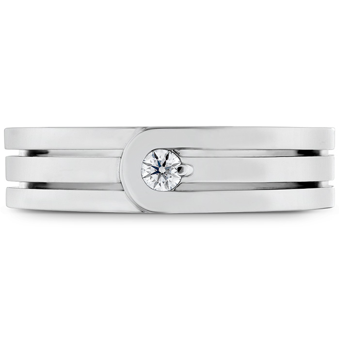 0.08 ctw. Coupled Encompass Triple Row Band 6mm in Platinum