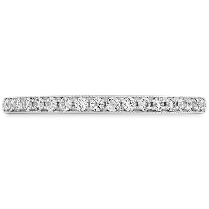 0.18 ctw. Deco Chic Band to match DRM Halo Ring in 18K White Gold