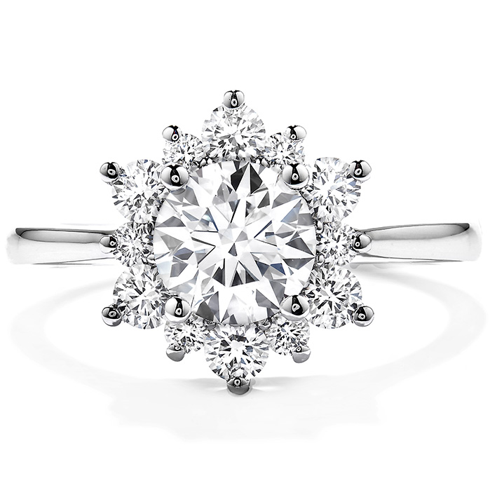 0.15 ctw. Delight Lady Di Diamond Engagement Ring in 18K White Gold