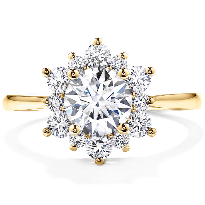 0.55 ctw. Delight Lady Di Diamond Engagement Ring in 18K Yellow Gold