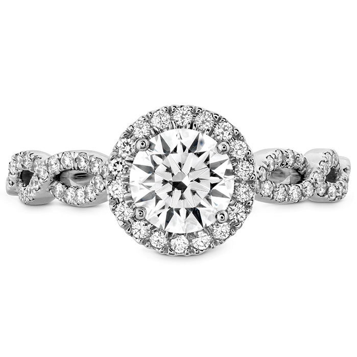 0.35 ctw. Destiny Lace HOF Halo Engagement Ring - Dia Intensive in 18K White Gold