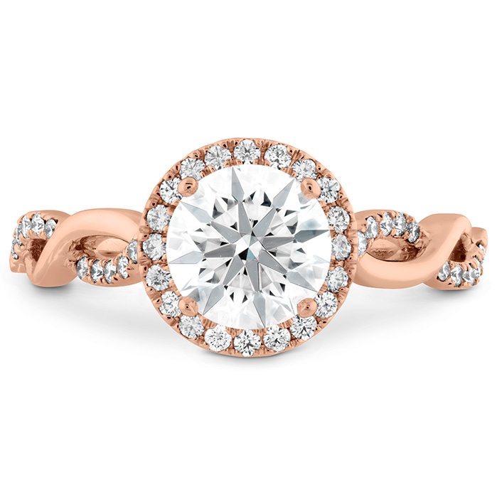 0.23 ctw. Destiny Lace HOF Halo Engagement Ring in 18K Rose Gold