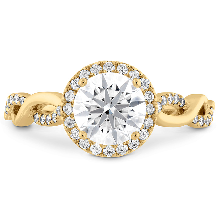 0.24 ctw. Destiny Lace HOF Halo Engagement Ring in 18K Yellow Gold
