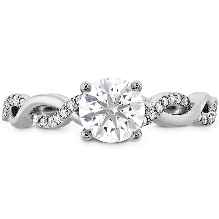 0.16 ctw. Destiny Lace HOF Engagement Ring in 18K White Gold