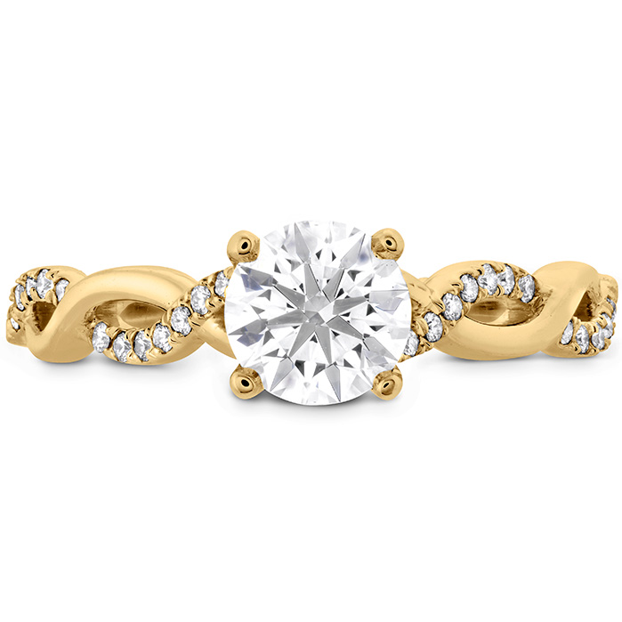 0.16 ctw. Destiny Lace HOF Engagement Ring in 18K Yellow Gold
