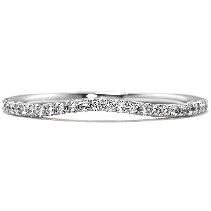 0.15 ctw. Felicity Wedding Band in 18K White Gold