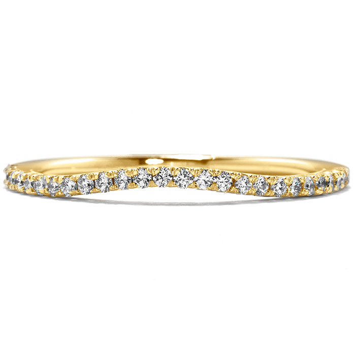 0.15 ctw. Felicity Wedding Band in 18K Yellow Gold