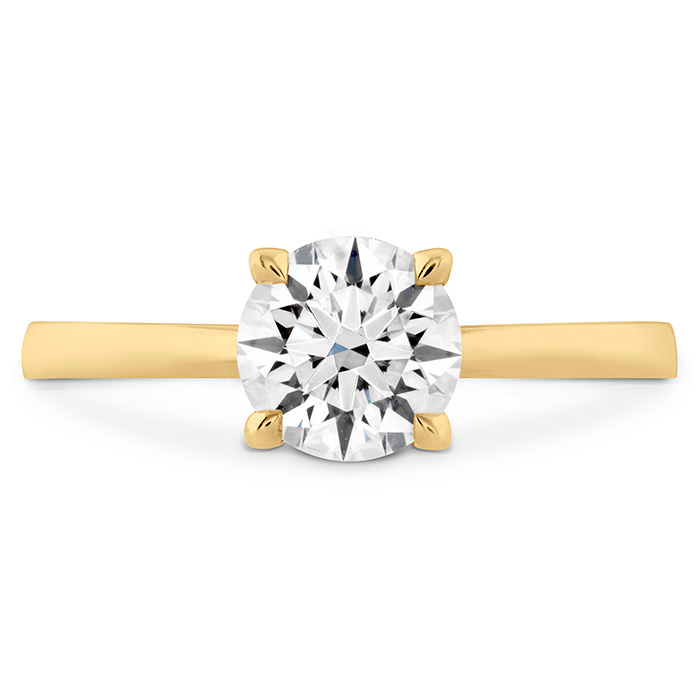 HOF Signature Solitaire Engagement Ring in 18K Yellow Gold
