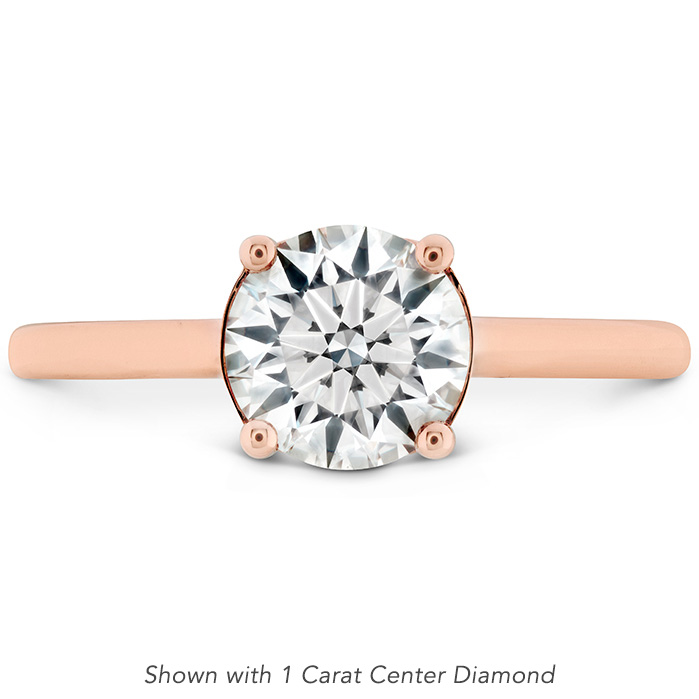 Sloane Silhouette Engagement Ring-Sapphires in 18K Rose Gold
