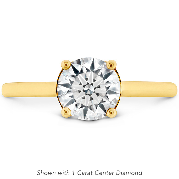 Sloane Silhouette Engagement Ring-Sapphires in 18K Yellow Gold