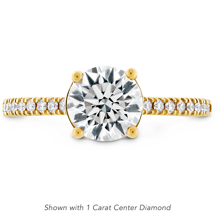 0.18 ctw. Sloane Silhouette Engagement Ring Diamond Band-Sapphires in 18K Yellow Gold