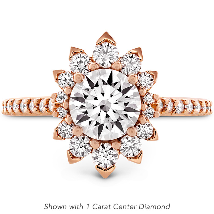 0.33 ctw. Behati Say It Your Way Oval Engagement Ring in 18K Rose Gold