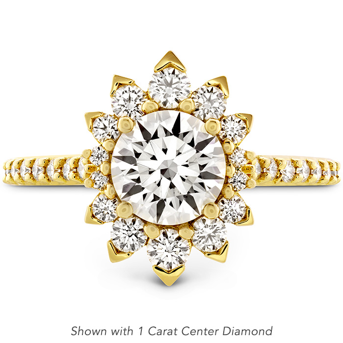 0.84 ctw. Behati Say It Your Way Oval Engagement Ring in 18K Yellow Gold