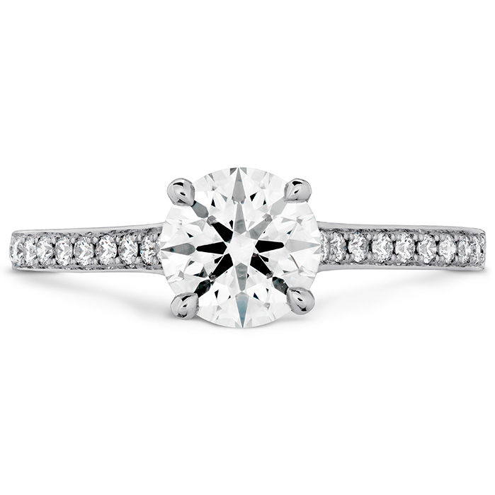 0.65 ctw. Illustrious Engagement Ring-Diamond Intensive Band in 18K White Gold