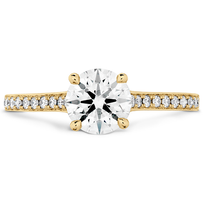 0.5 ctw. Illustrious Engagement Ring-Diamond Intensive Band in 18K Yellow Gold