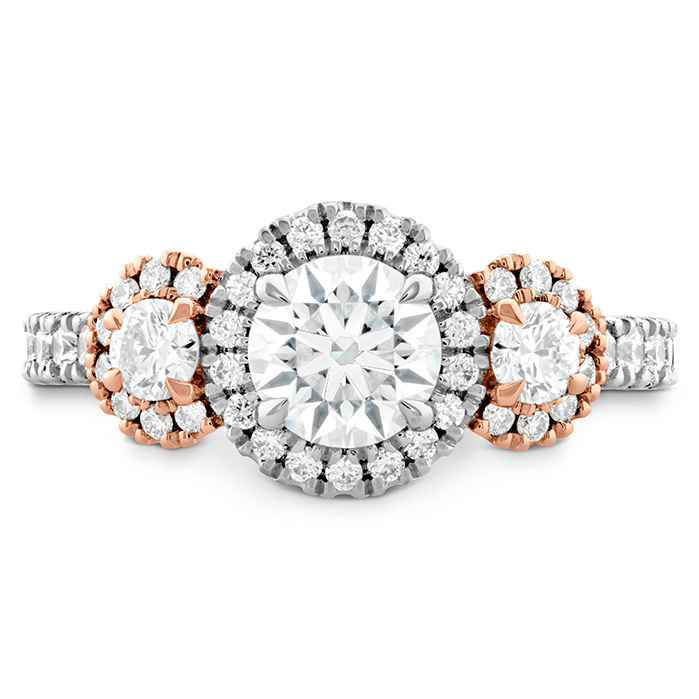 0.6 ctw. Integrity HOF Three Stone Engagement Ring in 18K Rose Gold