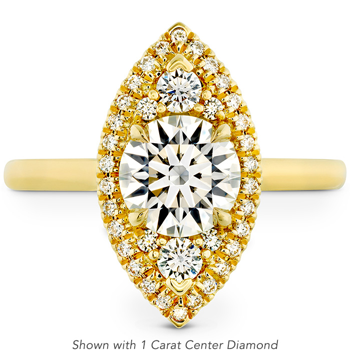 0.27 ctw. Juliette Marquise Halo Engagement Ring in 18K Yellow Gold