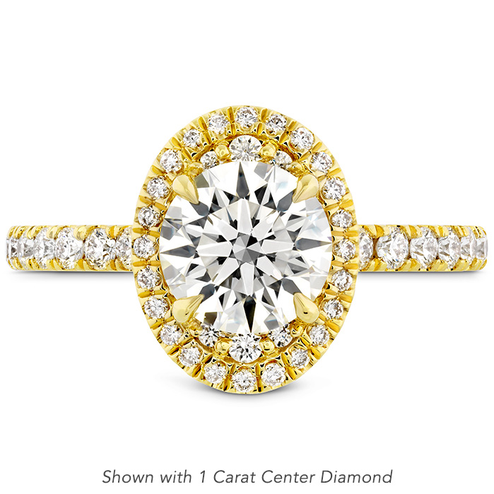 0.4 ctw. Juliette Oval Halo Diamond Engagement Ring in 18K Yellow Gold