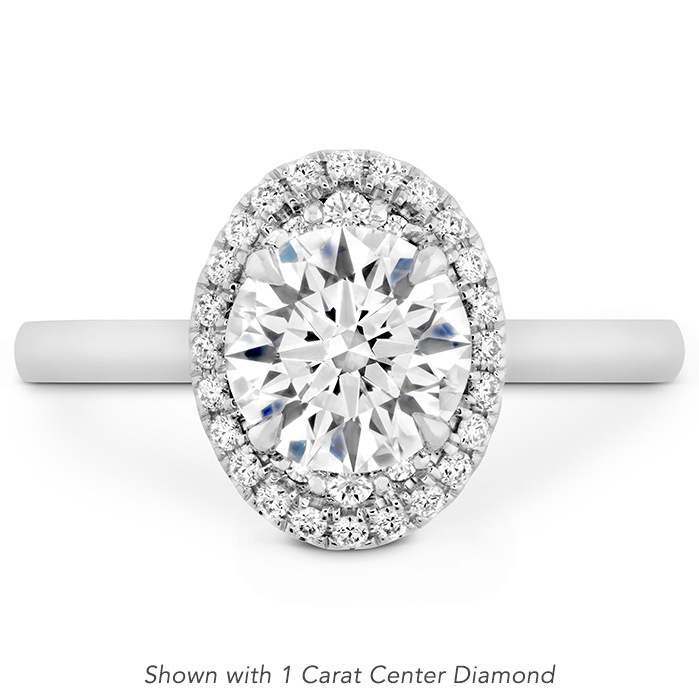 0.11 ctw. Juliette Oval Halo Engagement Ring in Platinum