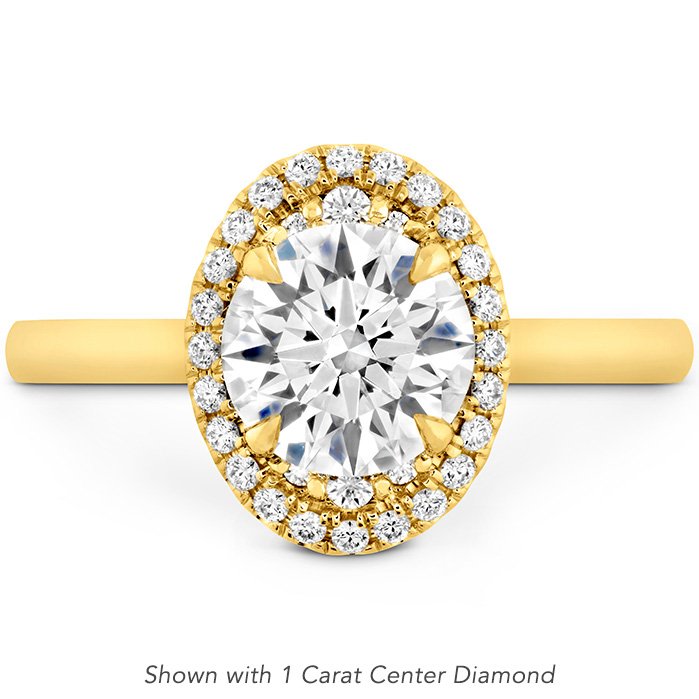 0.1 ctw. Juliette Oval Halo Engagement Ring in 18K Yellow Gold