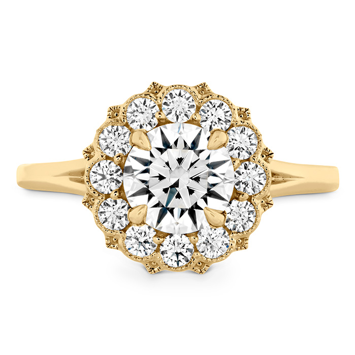 0.4 ctw. Liliana Halo Engagement Ring in 18K Yellow Gold