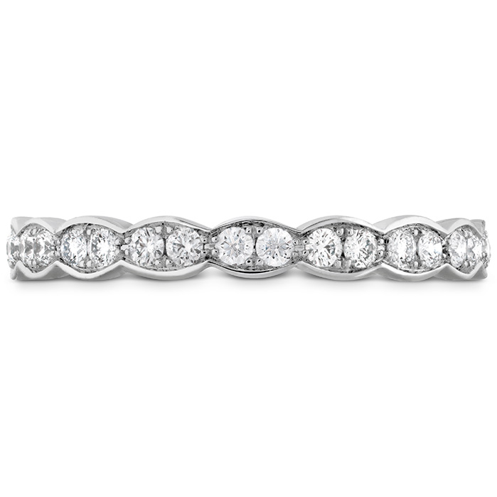 0.45 ctw. Lorelei Floral Eternity Band in 18K White Gold
