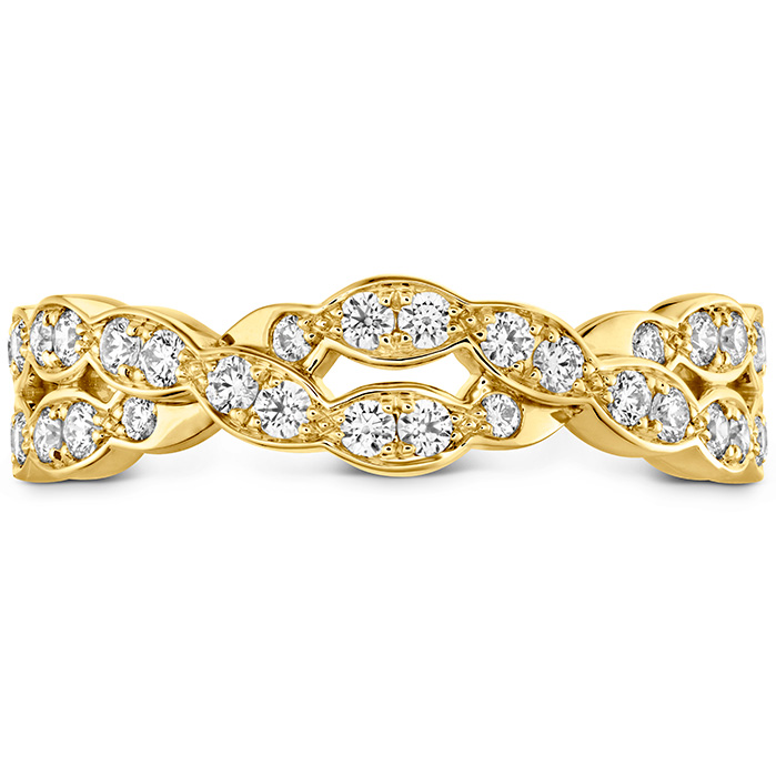 0.4 ctw. Lorelei Floral Dia Double Twist Band in 18K Yellow Gold