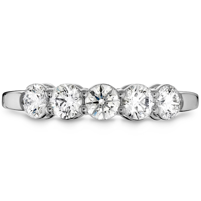 1.2 ctw. Multiplicity Love Five-Stone Band in 18K White Gold