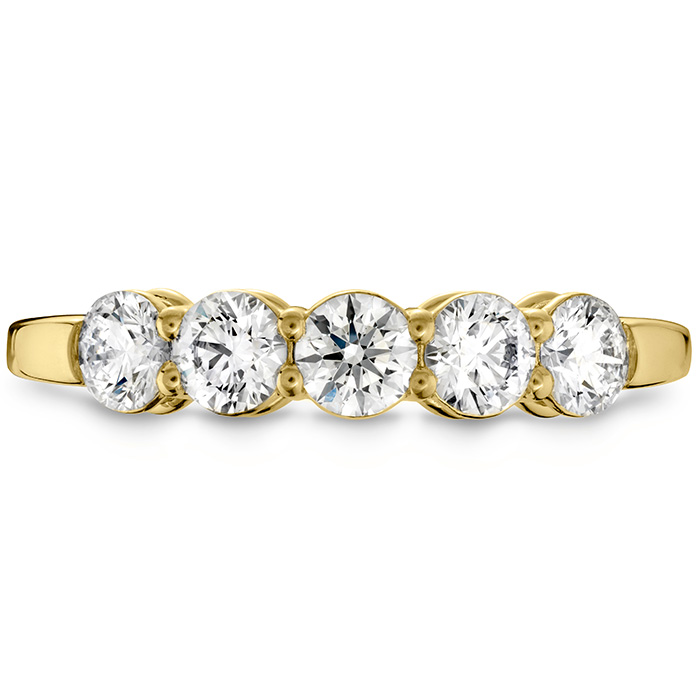 0.25 ctw. Multiplicity Love Five-Stone Band in 18K Yellow Gold