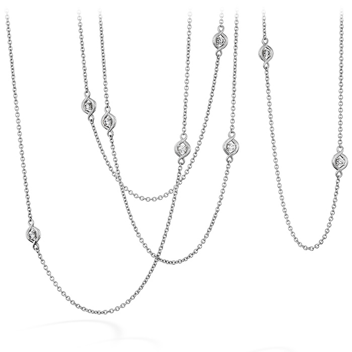 0.58 ctw. Optima Station Necklace in 18K White Gold