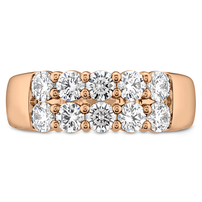 2 ctw. Signature Double Row Ring in 18K Rose Gold