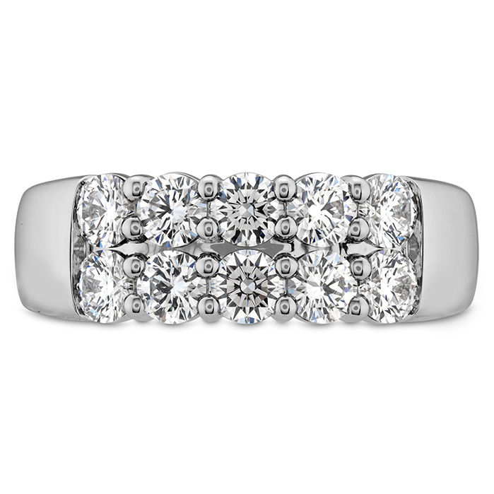 2 ctw. Signature Double Row Ring in 18K White Gold
