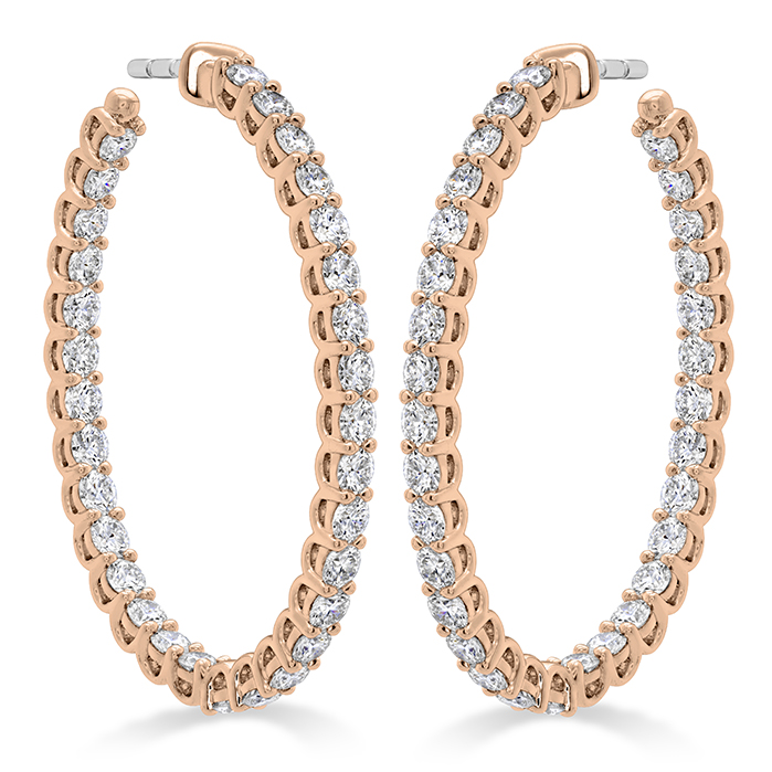 2.66 ctw. Signature Oval Hoop - Large in 18K Rose Gold