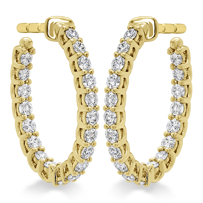 0.66 ctw. Signature Oval Hoop - Small in 18K Yellow Gold