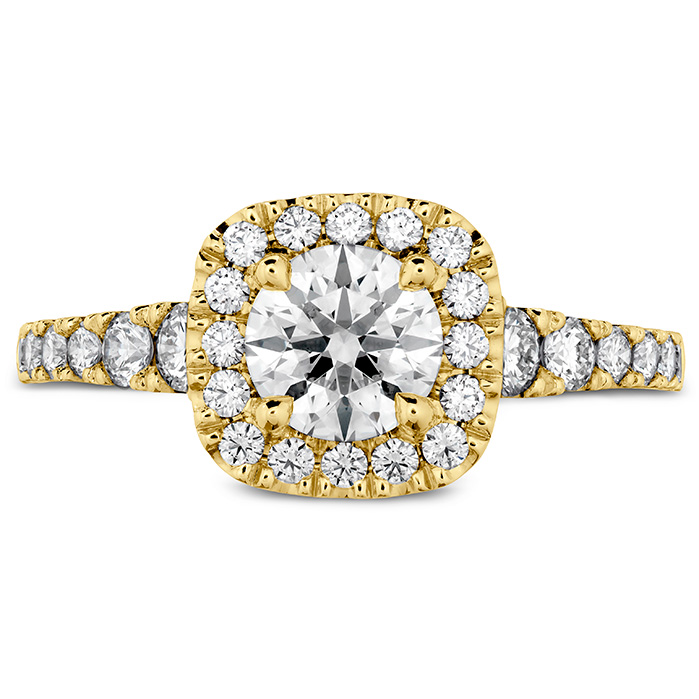 0.55 ctw. Transcend Premier Custom Halo Engagement Ring in 18K Yellow Gold