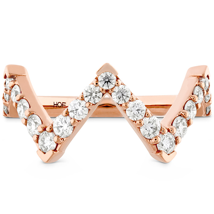 0.7 ctw. Triplicity Pointed Diamond Ring in 18K Rose Gold